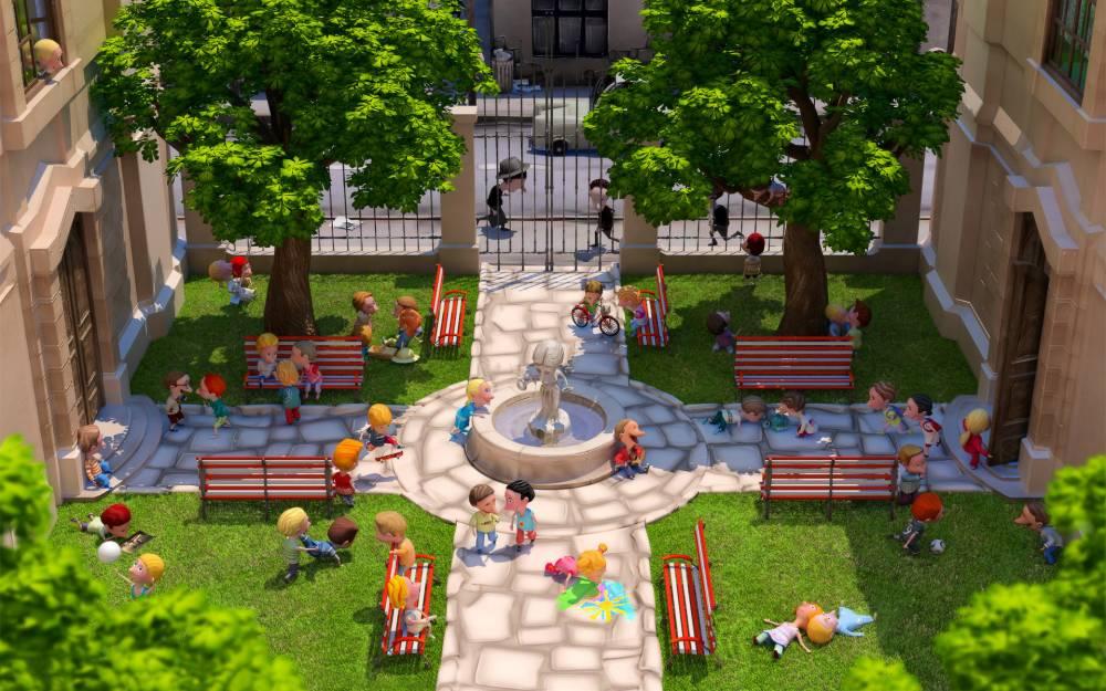 Красивый двор в картинках